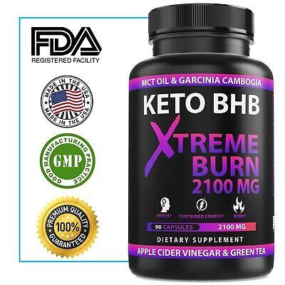 2100MG Keto Diet Pills Advanced Weight Loss that WORKS Burn Fat & Carb Blocker