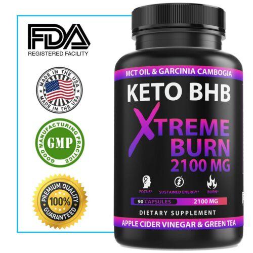 2100MG Keto Diet Pills Advanced Weight Loss that WORKS Burn Fat Carb Blocker BHB