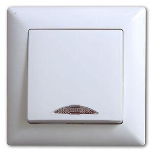GUNSAN Visage Ein/Aus Schalter mit Beleuchtung Weiss