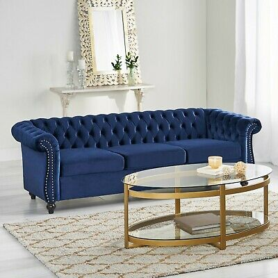Adetokunbo Tufted Chesterfield 3 Seater Sofa 2