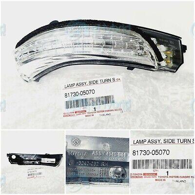 GENUINE TOYOTA AVENSIS INDICATOR MIRROR LAMP TURN SIGNAL RH REPEATER 81730-05070