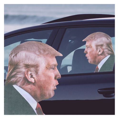 Ride with Trump  Window Sticker + 2 Trump 2020 Decals ..Fast Shipping!