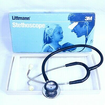 Vintage 3m Littmann Professional Stethoscope212122 Inch With Box