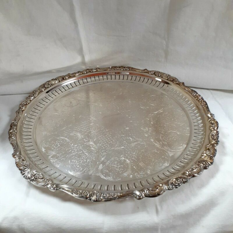 Wallace Baroque Silver Plate #298 Serving Tray Platter