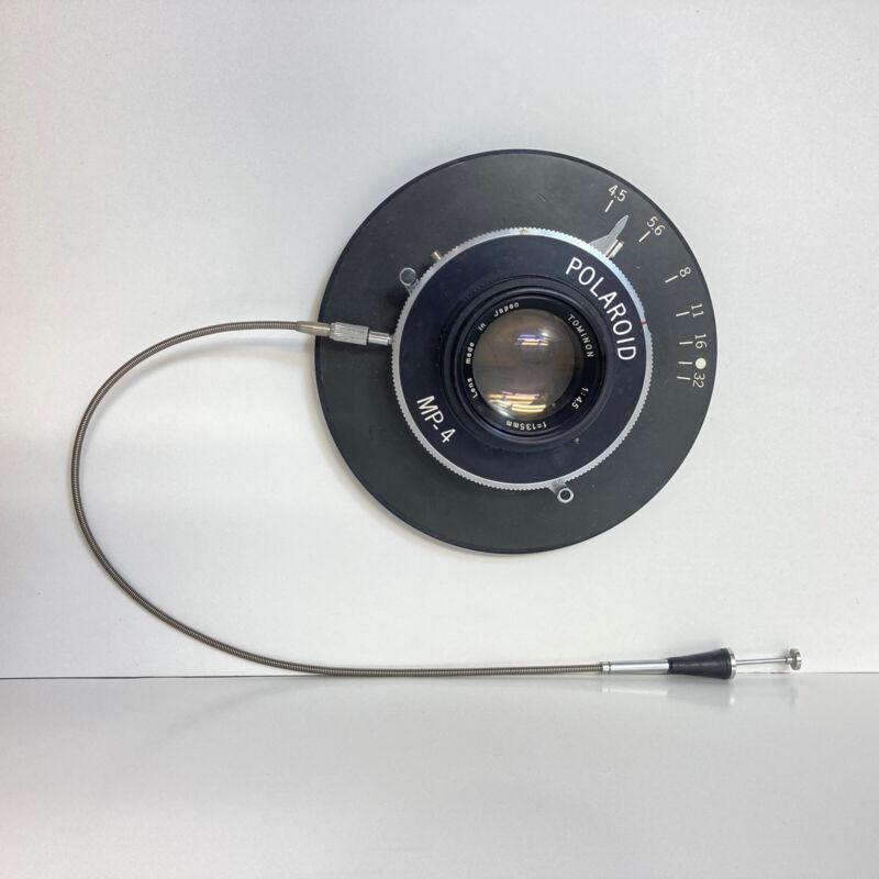 Polaroid MP-4 Copal Press Rim-Set Shutter / Mount / 1:4.5 35mm Tominon Lens Land