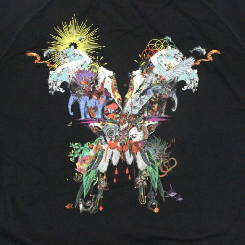 Coldplay Butterfly Package Back Crewneck Sweatshirt - Black - 2XL
