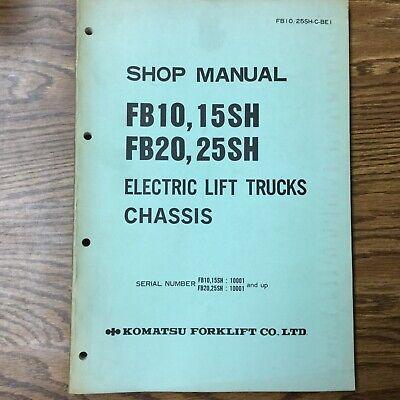 Komatsu Fb101520 Fb25sh Service Shop Repair Manual Electric Fork Lift Truck
