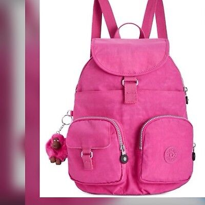 New Kipling Firefly Very Berry Nylon Lightweight Backpack Bookbag