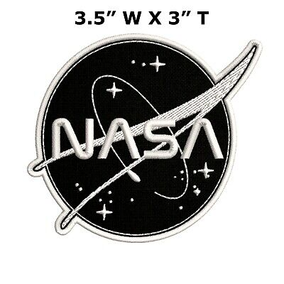 NASA Vector Space Logo Embroidered Patch Iron-On / Sew-On Stars Applique