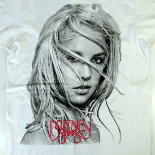 2011 Britney Spears Femme Fatale Tour Double Sided T-Shirt-Size Small White