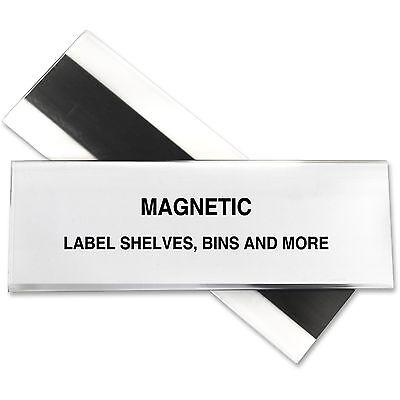 C-line Label Holder Magnetic F Shelfbin 2x6 10bx Clear 87247