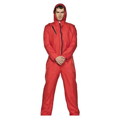 Adult Men's Money Heist La Casa De Papel Halloween Cosplay Costume Red Jumpsuit