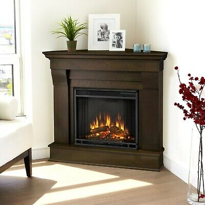 RealFlame Chateau Electric Fireplace Heater Corner White, Espresso, or Walnut
