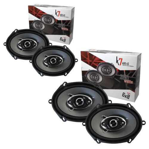 "4x Audiotek K7 720W 6"" x 8"" 5"" x 7""4-Way Car Audio Coaxial  Speaker 6x8"