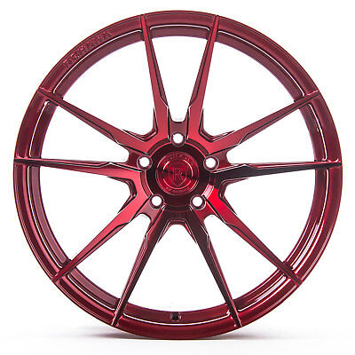 "20"" Rohana RF2 Polish Red Concave Wheels for Land Rover"