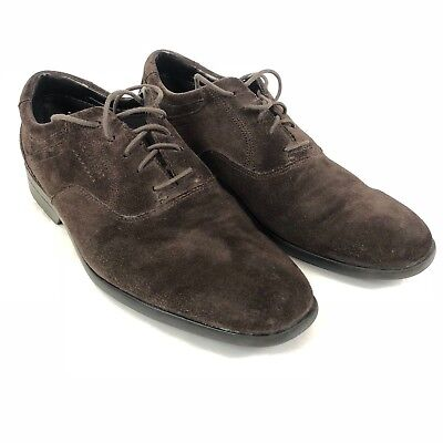Rockport Mens Shoes Suede Leather Oxford Laces AdiPRENE Brown Size 9 M K72388
