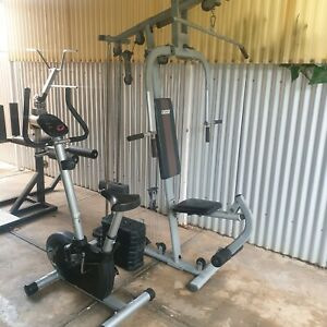 Multi purpose home gym and exercise bike