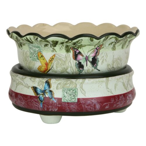 Butterfly Ceramic Stoneware Electric 2 in 1 Candle Tart Warmer