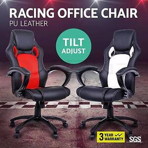 Racing Office Chair Seat Executive Computer Gaming PU Leather Melbourne CBD Melbourne City Preview