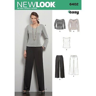 New Look Sewing Pattern 6402 Misses Easy Pull-on Pants and Knit Tops Size XS-XL  ()