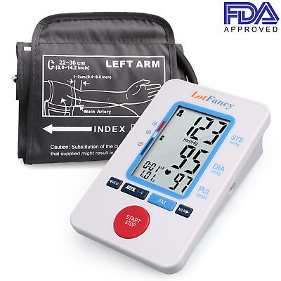 LotFancy Blood Pressure Monitor BP Cuff Gauge Meter Machine Tester For Home Use