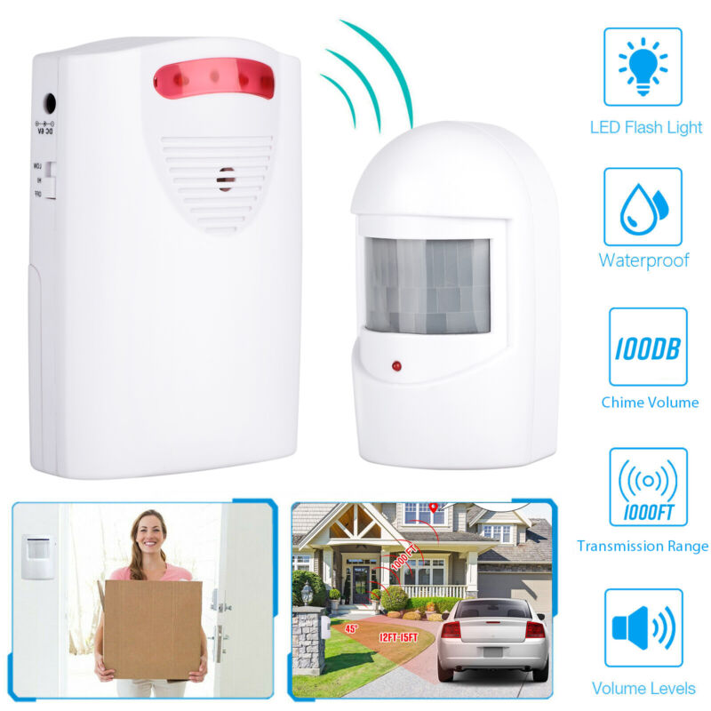 Wireless Driveway Alarm Infrared Motion Sensor Home Garage Alert Security System
