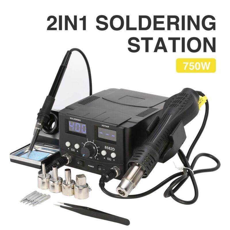 Stazione di Saldatura Digitale SMD 2 in 1 70W con Pistola 750W Kit Saldatore