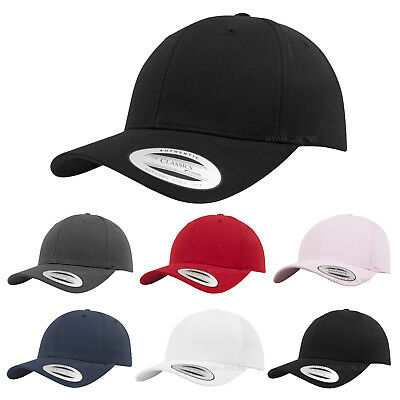 NEW FLEXFIT BASEBALL CAP BLACK PLAIN SNAPBACK TRUCKER FITTED GOLF ERA PEAK HAT