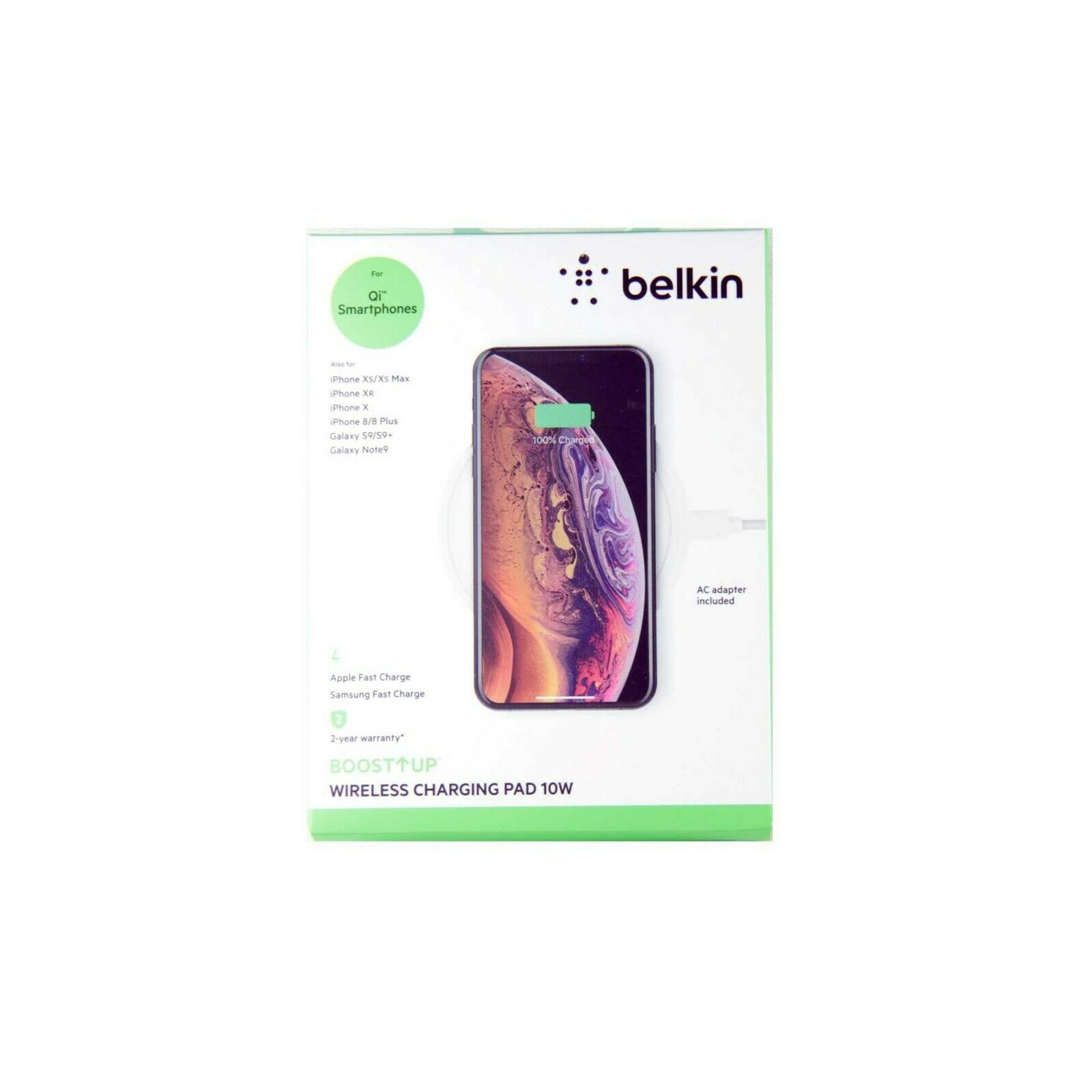 BELKIN CHARGE PAD QI WIRELESS BOOST UP 10W FOR IPHONE 11 PRO