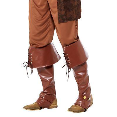 Erwachsene Herren Luxus Piraten Kapitän Stiefelabdeckung Schuhe Karibik - Herren Piraten Kostüm Stiefel