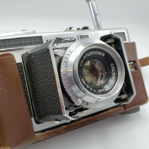 Vintage Voigtlander Vitessa Film Camera Color Skopar 1:2.8 50 mm Lens