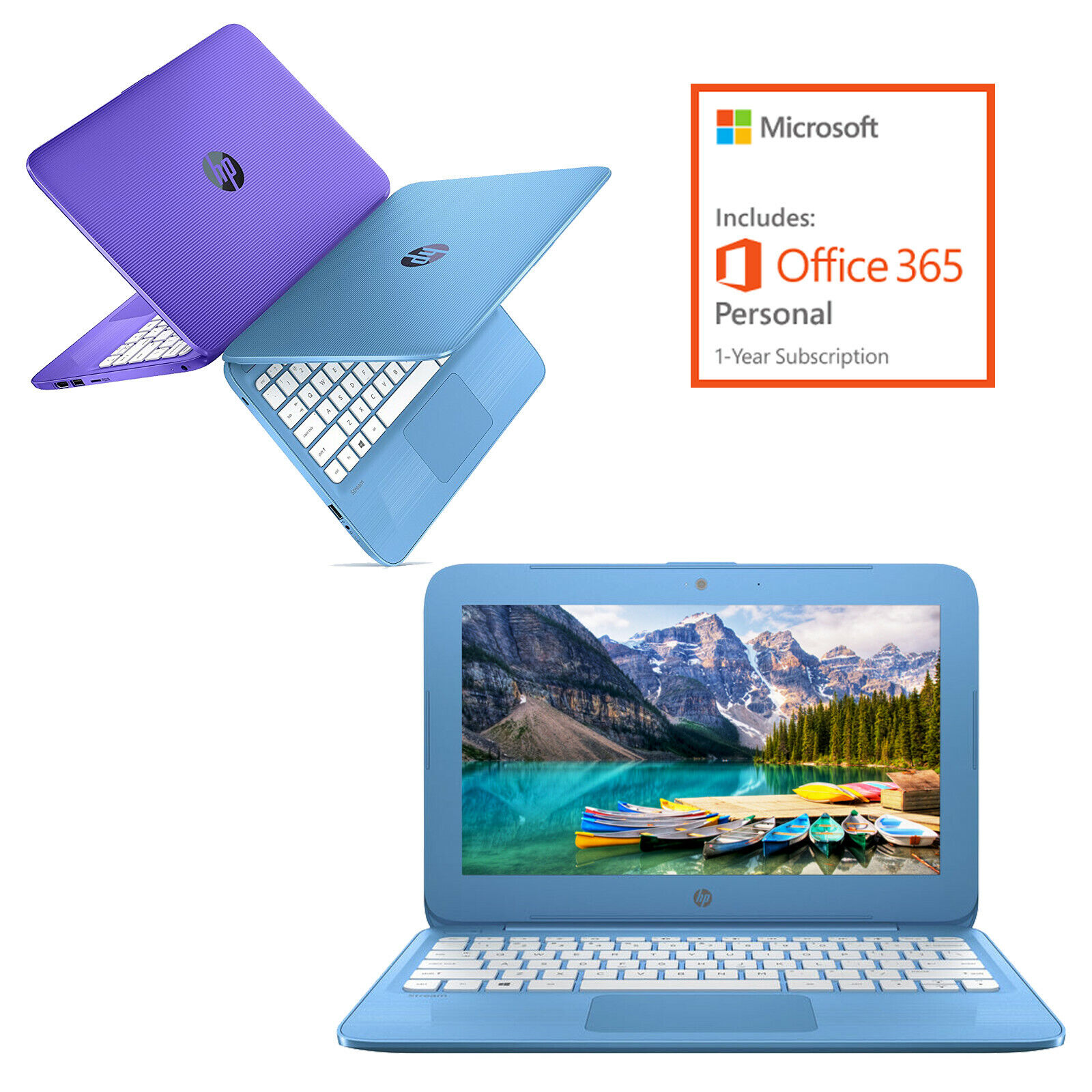 "Laptop Windows - HP 11.6"" HD Intel N3060 4GB 32GB eMMC Windows 10 Streambook + 1-Year Office 365"