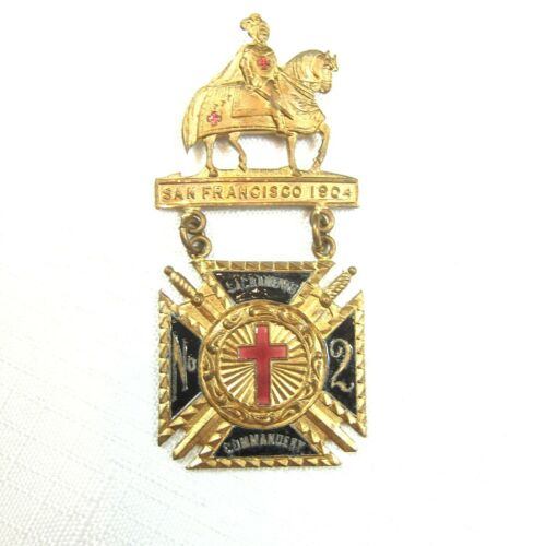 1904 Knights Templar 29th Triennial San Francisco Conclave Medal Sacramento No 2