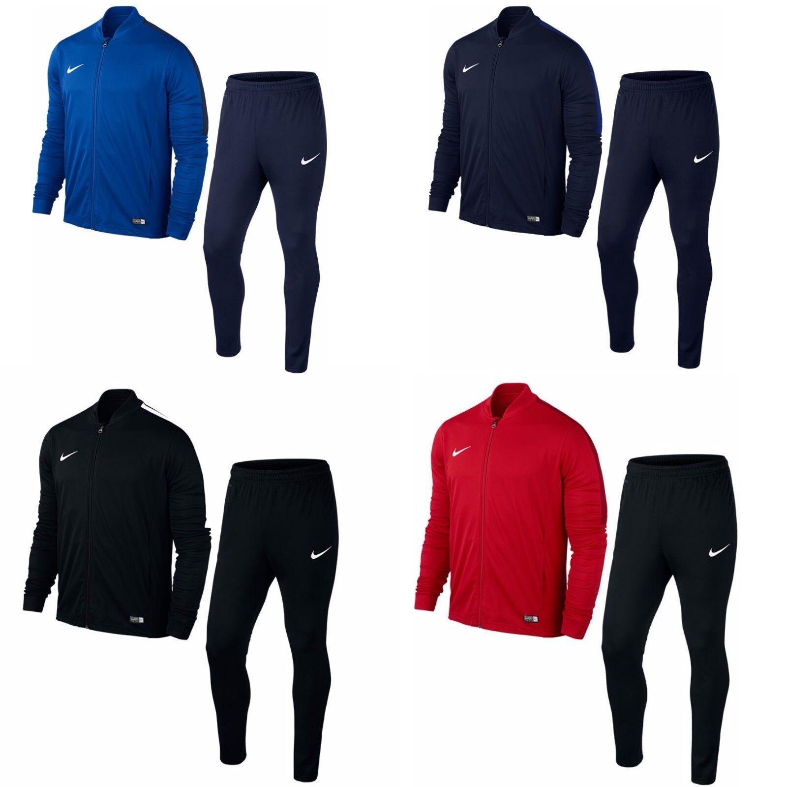 Nike Trainingsanzug Sportanzug Jogginganzug Herren dünner Stoff Dri-FIT schwarz
