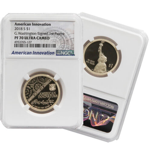 2018 S Proof American Innovation Dollar $1 NGC PF 70 Ultra Cameo