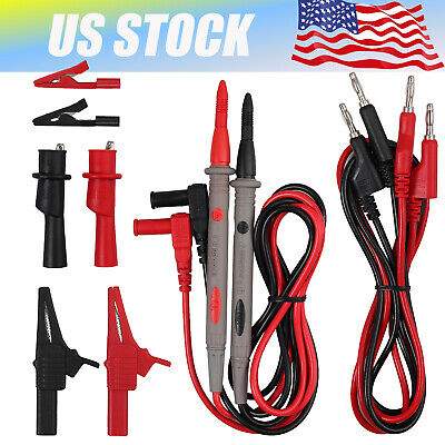 Electrical Multimeter Test Lead Kit Probes Lead With Alligator Clips Clamp Set