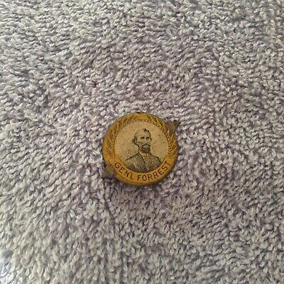 Tin Tobacco Tag - GENERAL FORREST -  Confederate  - Civil War Related
