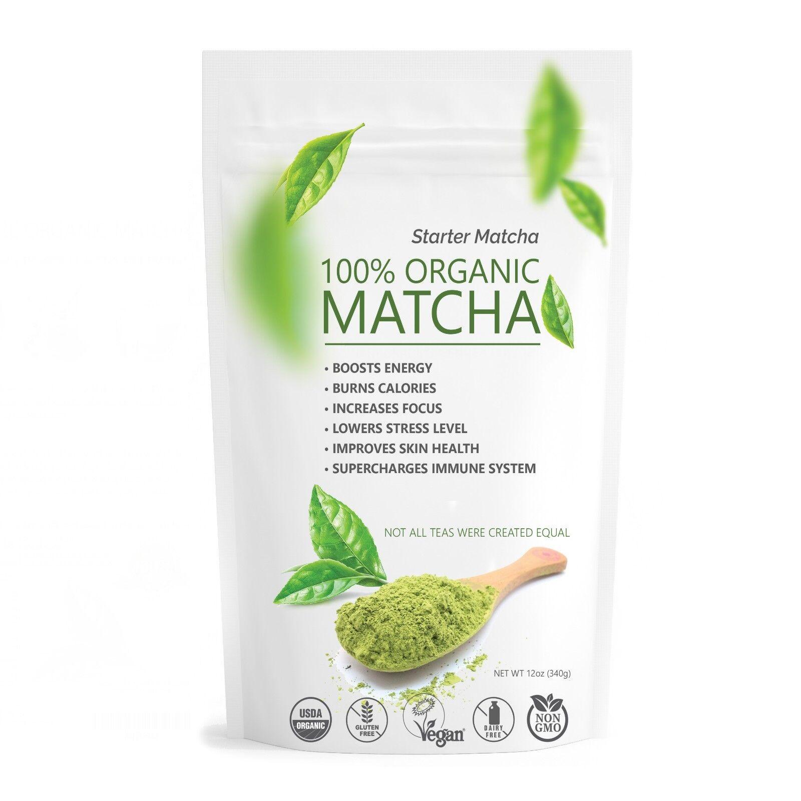 Matcha Outlet Starter Green Tea Powder -16oz  FREE 1-3 DAY U