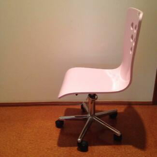 Pink Wheely Desk Chair