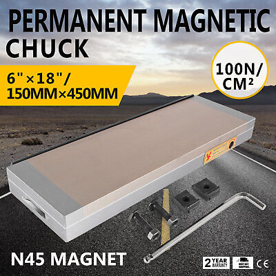 6x18 Inch Fine Pole Permanent Magnetic Chuck For Grinding Machine