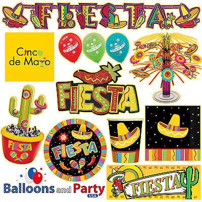 Fiesta  Cinco De Mayo Mexican Party Tableware Decorations Supplies
