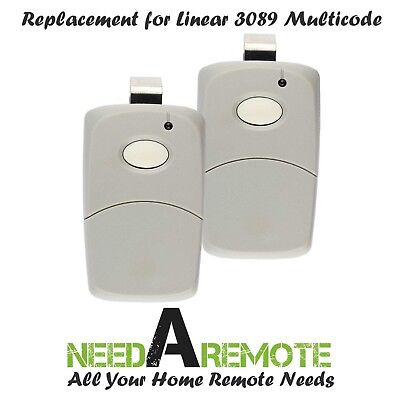 2x For 3089 multi-code multicode 308911 Linear MCS308911 300mhz 1 button remote