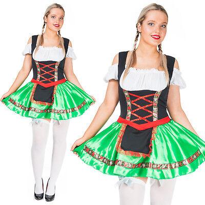 Womens Oktoberfest Wench Costume German Bavarian Beer Girl Maid Sexy Fancy Dress](Bavarian Beer Maid Costume)