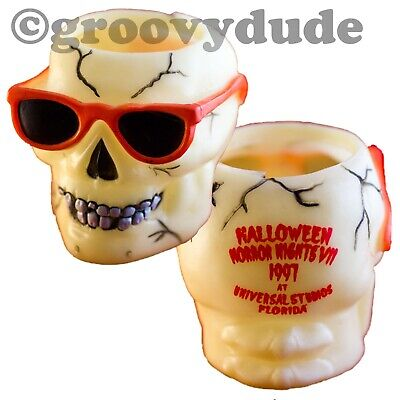 1997 Universal Studios Of Florida Park Halloween Horror Nights HHN VII 7 Skull](Halloween Night Universal Studios Florida)