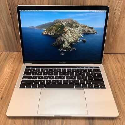 """Apple MacBook Pro 2017 Silver 13"""" Touch Bar 256GB SSD 8GB RAM 3.1GHz Tested"""