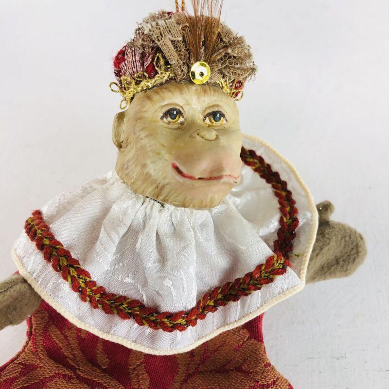 Monkey Ape Chimp Christmas Ornament Ceramic