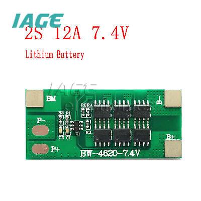 2S 12A 7.4V Li-ion 18650 Lipo BMS Schutzplatine PCB Board Batterie