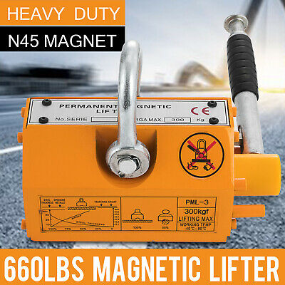 Heavy Duty 300 Kg Steel Magnetic Lifter Crane Hoist Lifting Magnet 660lb