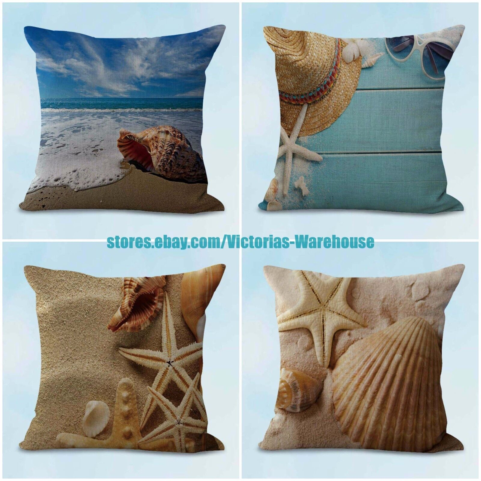4pcs decorative throw pillow cushion covers natural scenery