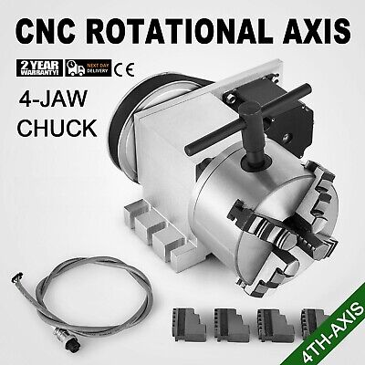 Cnc Router Rotational Rotary Axis 4-jaw 4th-axis Self-centering Aluminum Alloy